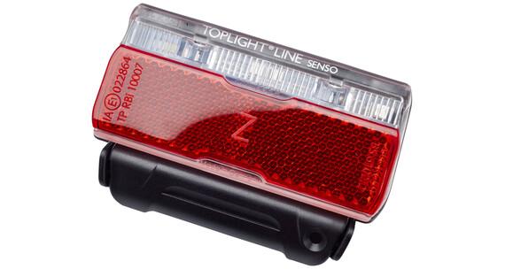 Busch + Müller Toplight Line Lampka rowerowa tylna senso 80mm czarny